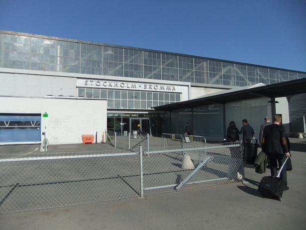 ブロンマ空港到着