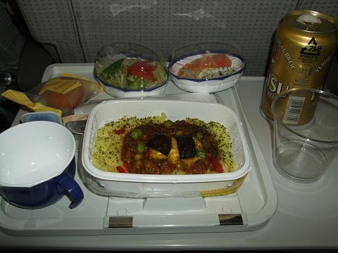 機内食「たいめいけん」のキーマカレー