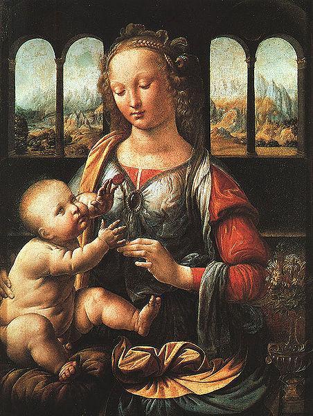 カーネーションを持つ聖母