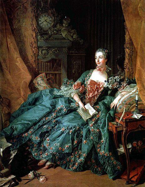 ポンパドゥール夫人の肖像(ブーシェ作)