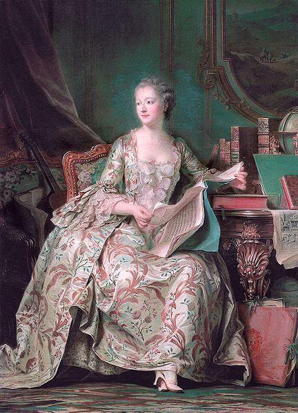 ポンパドゥール夫人の肖像(ラ・トゥール)